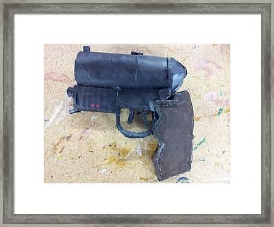 Deckard's Blaster Framed Print by William Douglas