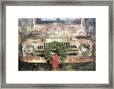 Decked Out For Christmas Framed Print