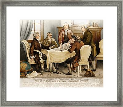 Declaration Committee 1776 Framed Print