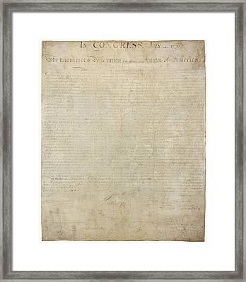 Declaration Of Independence - Original Framed Print by Pablo Lopez