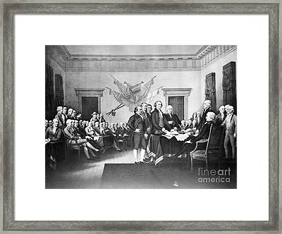 Declaration Of Independence Framed Print by Photo Researchers, Inc.