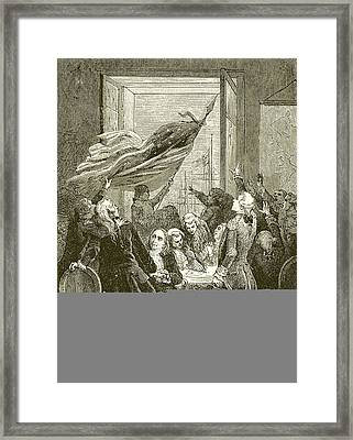 Declaration Of The Independence Of The United States Framed Print