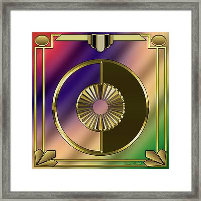 Framed Print featuring the digital art Deco 27 - Chuck Staley by Chuck Staley