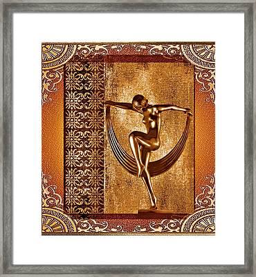 Framed Print featuring the mixed media Deco Art by Mary Morawska