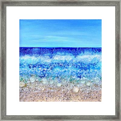 Deco Beach Framed Print by Regina Valluzzi
