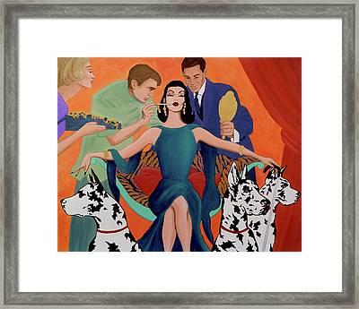 Deco Diva Framed Print