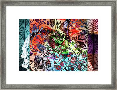 Deco Eye 6 Framed Print by Priscilla Huber