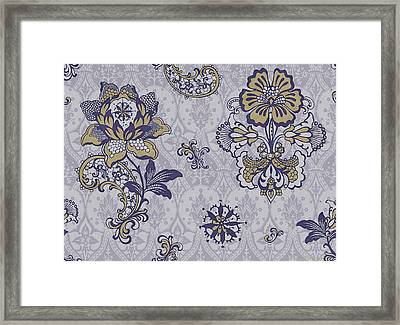 Deco Flower Blue Framed Print