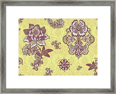 Deco Flower Yellow Framed Print