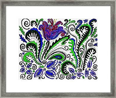 Deco Garden Framed Print by Sarah Loft