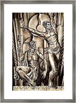 Deco Olympus Framed Print