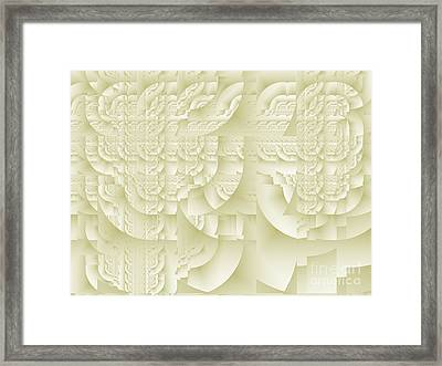 Framed Print featuring the digital art Deco Relief by Richard Ortolano