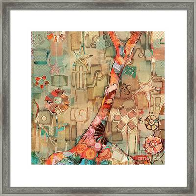 Deco Tree Framed Print by Carrie Joy Byrnes