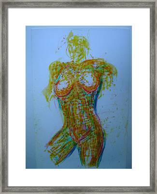 Decolletage Framed Print by Dean Corbin