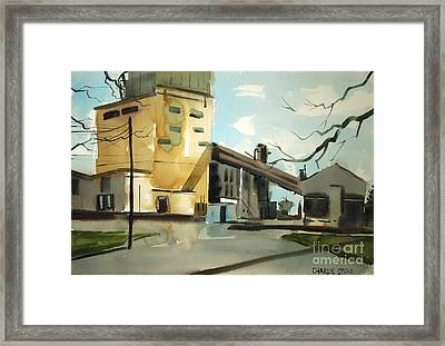 Framed Print featuring the painting Decommisioned Coal Power  by Charlie Spear