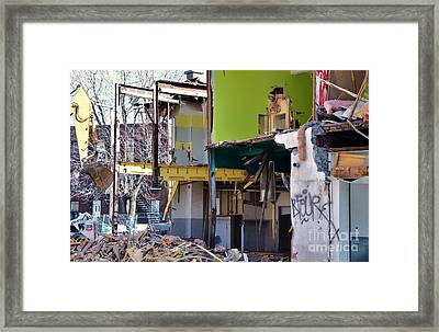 Decon Lasalle Whats In Your House Framed Print by Reb Frost