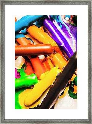 Deconstructing The Colour Wheel Framed Print