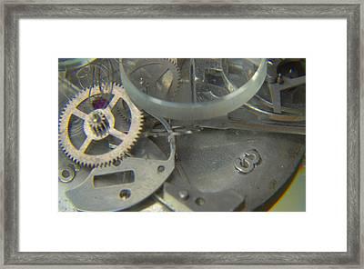 Deconstructing Time 315 Framed Print by Karen Musick