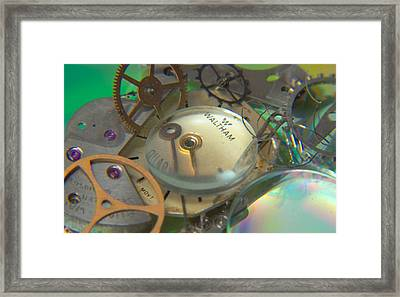 Deconstructing Time 420 Framed Print