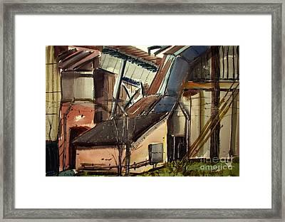 Deconstruction Coal Fired Framed Print