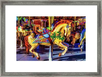 Decorated Carrasoul Horse Framed Print