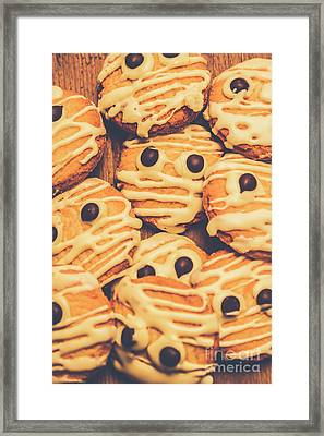 Decorated Shortbread Mummy Cookies Framed Print