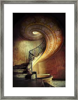 Decorated Spiral Staircase  Framed Print by Jaroslaw Blaminsky