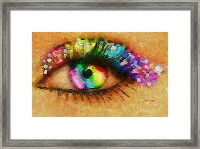 Decoration  - Cubism Style -  - Da Framed Print by Leonardo Digenio