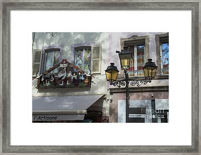 Decoration Of Window In Colmar Framed Print by Yefim Bam