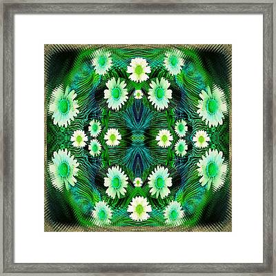 Decorative Abstract Meadow Framed Print
