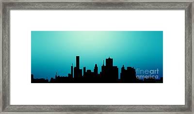 Decorative Abstract Skyline Houston R1115a Framed Print