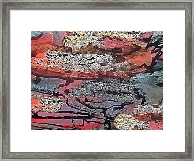 Decorative Abstract Wall Art Framed Print by John Malone