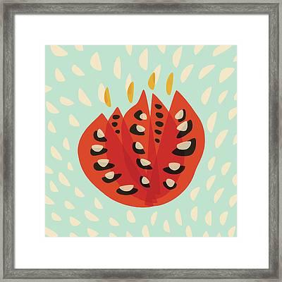 Decorative Beautiful Abstract Tulip Framed Print by Boriana Giormova