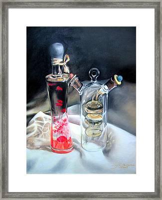 Decorative Bottles Framed Print