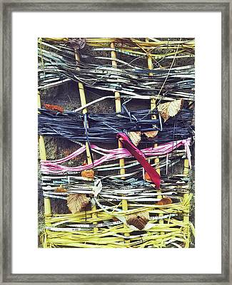Decorative Colorful Ribbons Framed Print by Tom Gowanlock