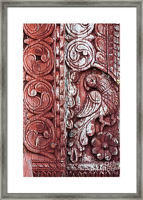 Decorative Door Design Framed Print by Tim Gainey