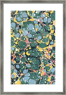 Decorative Endpaper Framed Print by Unknown