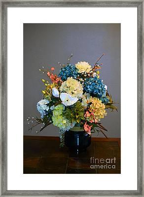 Decorative Floral Mixed Media B3117 Framed Print by Mas Art Studio
