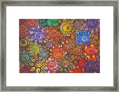Decorative Flowers Framed Print