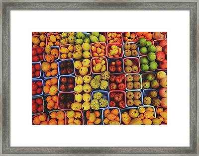 Decorative Fruits Pattern In Vietnam Framed Print