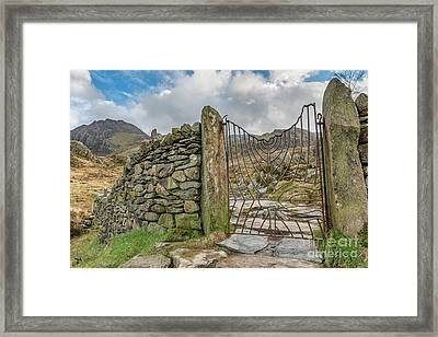 Framed Print featuring the photograph Decorative Gate Snowdonia by Adrian Evans
