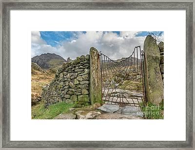 Decorative Gate Snowdonia Framed Print by Adrian Evans
