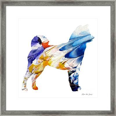 Decorative Husky Abstract O1015e Framed Print