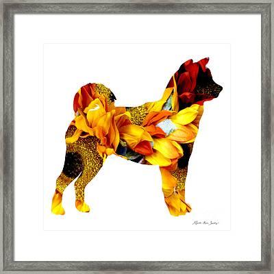 Decorative Husky Abstract O1015g Framed Print