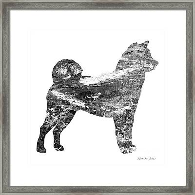 Decorative Husky Abstract O1015j Framed Print