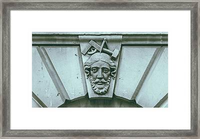 Decorative Keystone Architecture Details A Framed Print