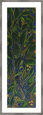 Decorative Leaves Framed Print by Rita Fetisov