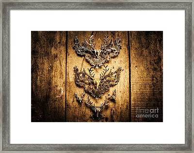 Decorative Moose Emblems Framed Print by Jorgo Photography - Wall Art Gallery