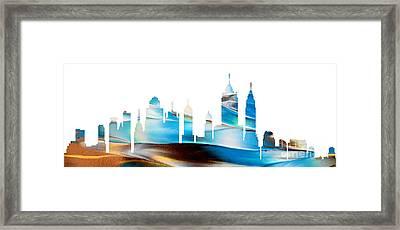 Decorative Skyline Abstract New York P1015a Framed Print