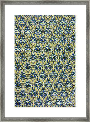Decorative Pattern With The German Coat Of Arms Framed Print by German School